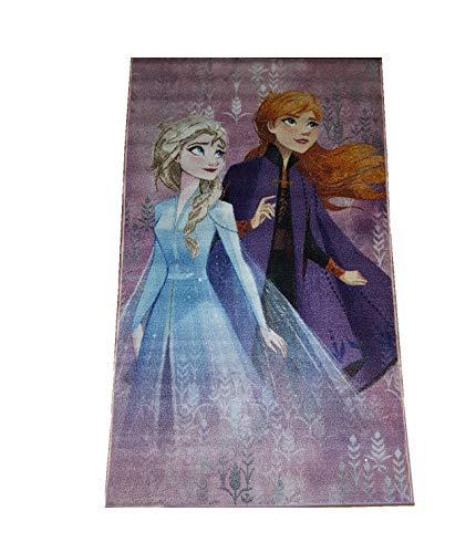 Bavaria Home Style Collection- kompatibel mit ELSA Kinder-Teppich für Mädchen I rutschfest I Anna und ELSA Teppich fürs Kinderzimmer I Spiel-Teppich lila 140 x 80 cm