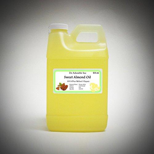 Sweet Almond Oil 100% Organic Skin Care 64 Oz/2 Quarts