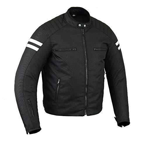 Motors motorjack motorfiets beschermende jas motorjas textiel voor heren, 2XL, wit