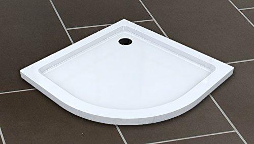 50 mm Plato de ducha cuarto de círculo 90x90 / Plato de...