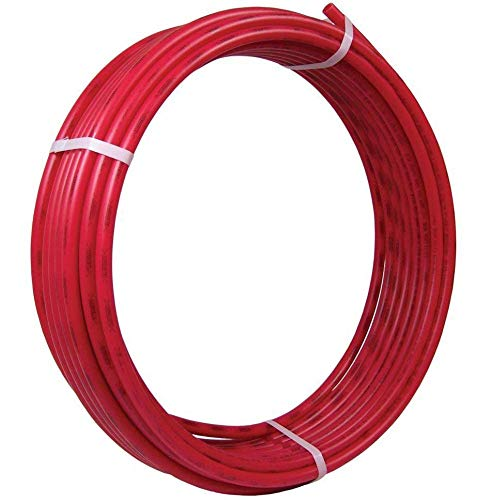 SharkBite U870R100 PEX Pipe 3/4 Inch, Flexible Water Tube, Pot, RED