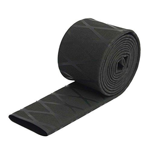 perfk rutschfeste Schrumpfschlauch Schrumpfschläuche mit Soft-Grip Schlauchband für Angelgeräte Sportgeräte - Schwarz 22mm