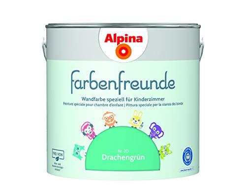 Alpina Farbenfreunde 2,5L Kinderzimmerfarbe Wandfarbe (Nr.20 Drachengrün)