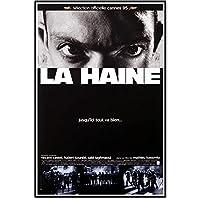 Rvbehnt 憎しみ1995クラシックヴィンテージ映画ブラックホワイトポスタープリントアートキャンバスホームルーム壁印刷装飾-60X90Cmx1フレームなし