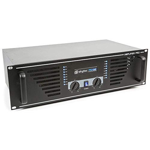 Skytec SKY-1000B Amplificador de sonido 2x 500W max. Negro