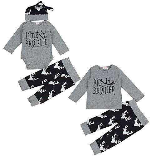 Neugeborene Jungen Geschwister Outfits Big Brother Little Brother Hirsch Strampler Bruder Passende Kleidung