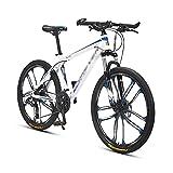 Bicicleta Montaña Bicicleta De Montaña Bicicleta De Acero Al Carbono Bicicleta Para Niños Chicas Mujeres Y Mujeres 24/27 Equipo De Velocidad 26 Pulgadas Ruedas Para Un Camino(Size:27 Speed,Color:Azul)
