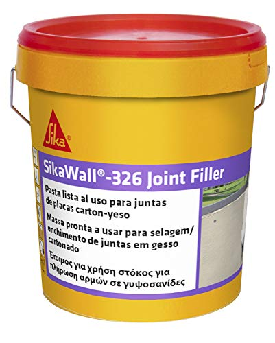 SikaWall 326 Joint Filler, Blanco, Plaster en pasta lista al uso para relleno y alisado de juntas en paramentos de cartón-yeso, Adherir y ocultar las cintas para juntas, 7 kg