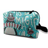 Lawenp Bolsa de cosméticos Bolsa de cosméticos de viaje Bolsa de cosméticos de artículos de tocador para viajes y regalos para el hogar Camisa de mono con circo