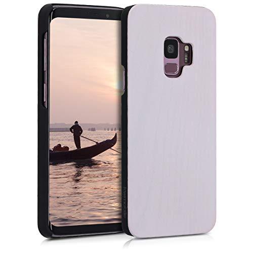 Preisvergleich Produktbild kwmobile Samsung Galaxy S9 Hülle - Handy Schutzhülle aus Holz - Cover Case Handyhülle für Samsung Galaxy S9 - Hellrosa