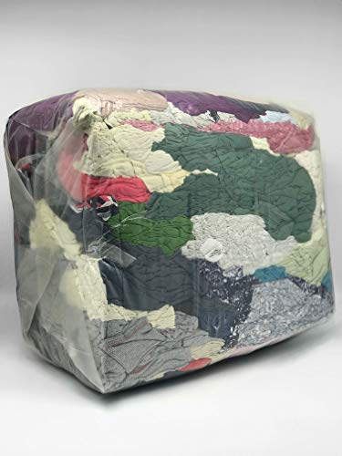 Industrieputzlappen Trikot, 10 kg, saugstarke Baumwollputzlappen, geschnitten nach DIN 61650, Putzlappen, Putztücher für Maschinen, Öle und Fette (bunt)