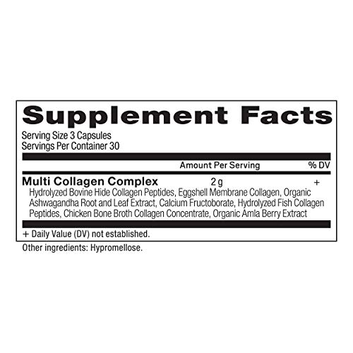 41u0cVbOxPL - Multi Collagen Pills, Formulated by Dr. Josh Axe, Blend of Grass-Fed Beef, Chicken, Wild Fish and Eggshell Collagen Peptides, Supports Skin, Nail & Gut Health, 90 Count