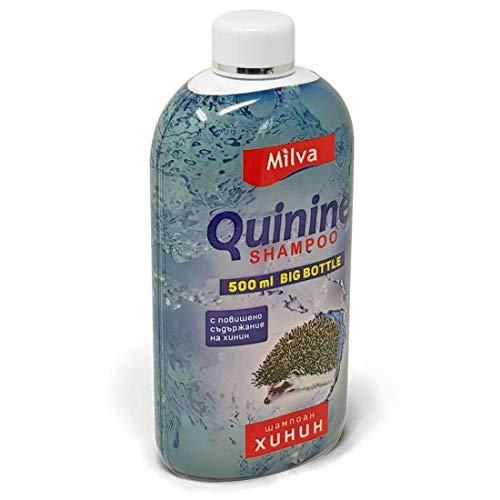 Milva 500ml Chinin-Power Shampoo für schnelleres Haarwachstum - Reduziert Schuppen, fördert Wachstum