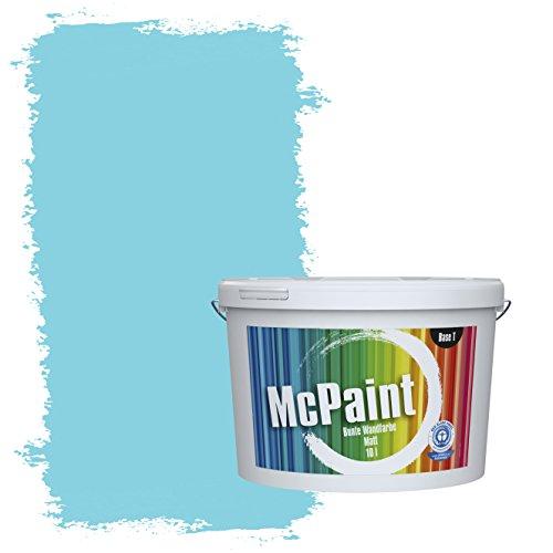 McPaint Bunte Wandfarbe Himmelblau - 10 Liter - Weitere Blaue Farbtöne Erhältlich - Weitere Größen Verfügbar