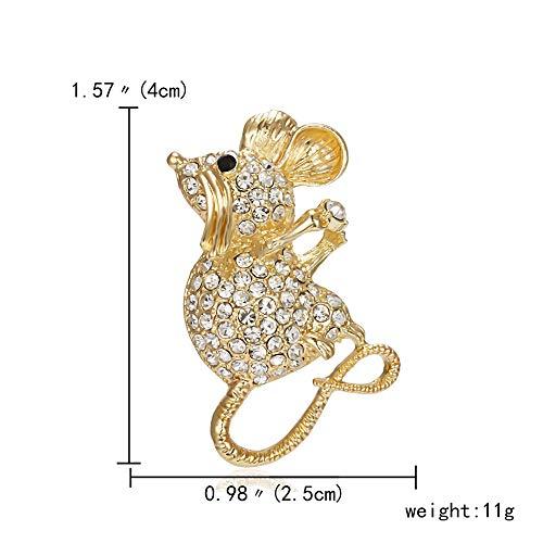 Turbobm Emaille Sternzeichen Ratte Jahr Maus Tier Brosche Halten EIS Papier Flugzeug Perle Stumm Gold Strass Malerei Öl Kleine Brosche