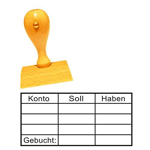Stempel Bürostempel « KONTO SOLL + HABEN TABELLE » Abdruckgröße ca. 60 x 30 mm - Buchungsstempel Kontierungsstempel - für Büro, Verwaltung, Buchhaltung, Steuerbüro etc.