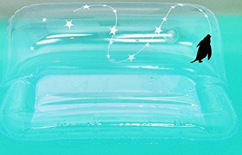 お風呂に浮くブックスタンドぷっかぁー:ペンギン(クリア)