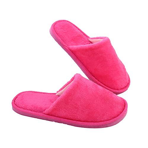 Demarkt Zapatillas de Algodón Eva Cálidas Y Silenciosas Zapatillas de Estar por Casa para Mujer Invierno Interior Caliente Suave Antideslizante Slippers Hombre 1Par