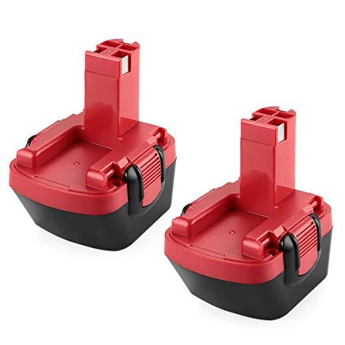 Preisvergleich Produktbild POWER-XWT 2PCS 12V 3, 0Ah Ni-MH Ersatzakku für Bosch Akku GSR12 VE-2 PAG 12v PSB 12VE-2 PSR 12VE-2 PSR 12VE-2 12V Bosch 12V Ersatz Werkzeuge