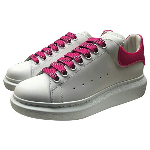 Alexander McQueen White/Pink Oversize Sneakers New/Authentic (39, 9)