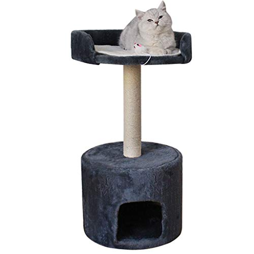 WYWY Torre de Gato de árbol de Gato para Gatos pequeños/medianos, Gimnasio Gatito condominio, Gato rasguño de Postes, Muebles Kitty Activity Center (Color : A)