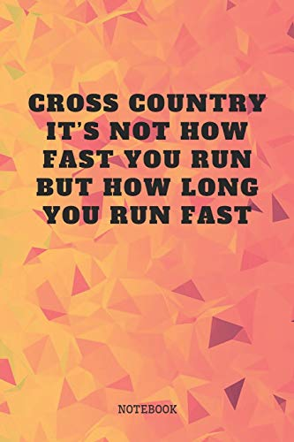 """Notebook: Cross Country Running Sport Race Couching Planner / Organizer / Lined Notebook (6"""" x 9"""")"""