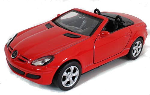 Modellauto / Mercedes SLK / 1:34 / ca.11cm / mit Rückzugsantrieb / DREI Farben Sortiert / Rot Schwarz oder Silber / Dach offen oder geschlossen / Zufallsauswahl / SLK