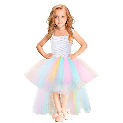 Handmade Girls Tutu Dresses Girls Tulle Dress for Birthday Party, Photography Prop, Special Occasion Rainbow