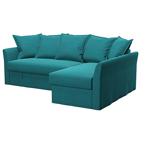 Soferia - IKEA HOLMSUND Funda para sofá Esquina, Classic Blue
