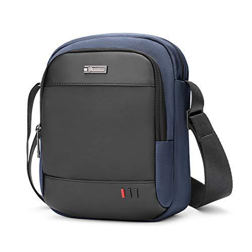 VINBAGGE Bolso Bandolera Hombre Pequeña,Bolso de Hombro para iPad Mini/Tableta hasta 8 Pulgadas,Bolsa Messenger para Casual Oficina Uso Diario,Azul