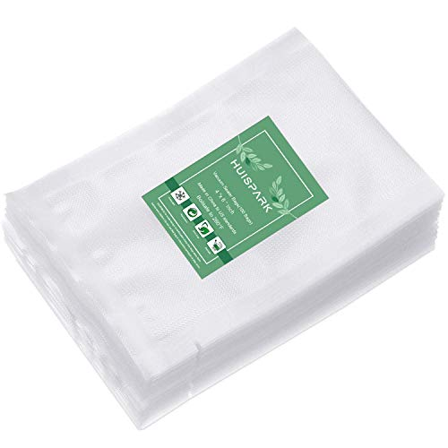 4×6 Inch Vacuum Sealer Bags,Heavy Duty Pre-Cut Design Commercial Grade Food Sealable Bag for Heat Seal Food Storage,Smell Proof Bags Boilsafe to 280°F Freezable, Resizable,Reuseable (100Pcs)
