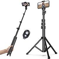 【Breite Kompatibilität】Der 3 in1 Selfie Stick wird mit einer 1/4-Zoll-Schraubbefestigung, einem Telefonclip und einem GoPro-Adapter geliefert, der für Action-Kameras, DSLRs und Gopros auf dem Markt sowie für die meisten Smartphones. 【Verstellbares & ...