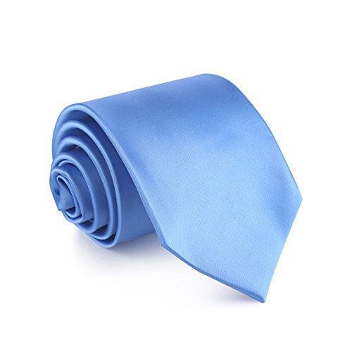 TIE WERLM 8,5 cm vaste kleur glossy breed das zakelijke jurk bruiloft bruidegom stropdas lichtblauw stropdas geschenkdoos