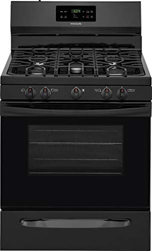 "FFGF3054TB 30″"" Gas Range with 5 Burners 5 cu. ft. Oven Capacity One-Touch Self Clean Quick Boil Electronic Kitchen Timer Sealed Gas Burner Storage Drawer in Black"