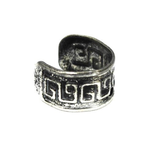 Elixir77UK Antique Silver Aztec Pattern Ear Cuff Clip On Wrap Helix Non Pierced Earring UK SELLER