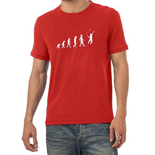 Texlab Badminton Evolution - Herren T-Shirt, Größe M, Rot
