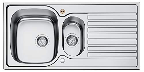 Bristan SK INXRD1.5 SU INOX 1.5 Bowl Kitchen Sink Universal, Steel