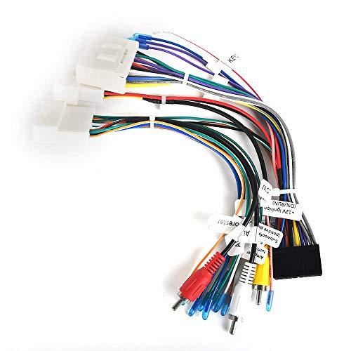 Reproductor multimedia para automóvil Plug & Play Conector de arnés de cableado estéreo para automóvil con adaptador de antena de radio para Subaru Forester con Keenwood Original Radio 2008 2009 2010