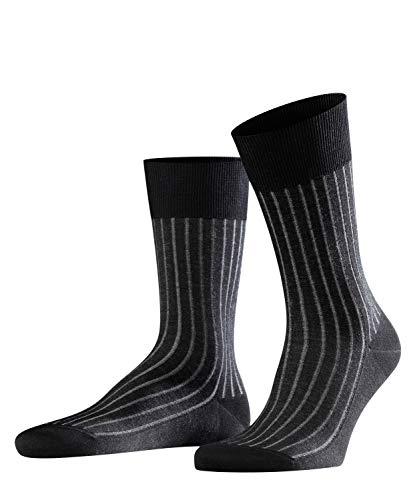 FALKE Herren Socken Shadow - 95{f57ff08872674640634a7c76309519a1bb1c8ac3d6a73afbbbf88e618cbeac11} Baumwolle, 1 Paar, Grau (Grey-White 3030), Größe: 41-42