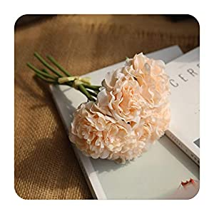 PrettyR 5pcs Artificial Flower Silk Peony for Home Decoration Accessories Wedding Bouquet Bride Fake Dahlia Living Room
