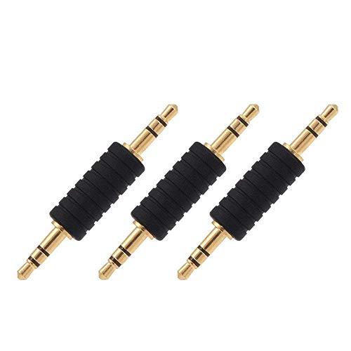 VCE 3 Stück 3,5mm Klinke Stecker auf 3,5mm Klinke Stecker Adapter Aux Verbindungsstecker für Bluetooth Adapter