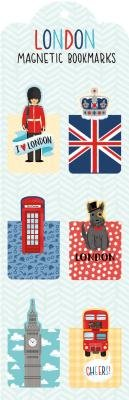 London Magnetic Bookmarks[BKMK-LONDON MAGNETIC -6PK][Other]