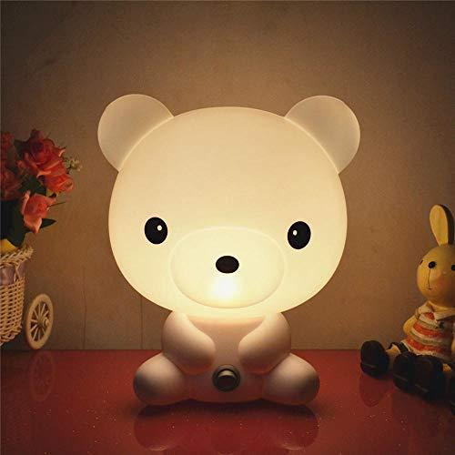 Veilleuse pour enfants LED Veilleuse, Lampe de chevet en silicone rechargeable USB portable Lampe multicolore de décoration de chevet Hello Kitty-conventionnel_Smart ours blanc La