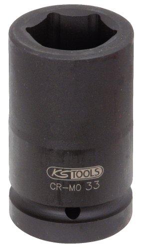 """KS Tools 515.1832 Llaves de vaso de impacto, pavonado (tamaño: 32 mm, 1""""), 2.5 cm"""