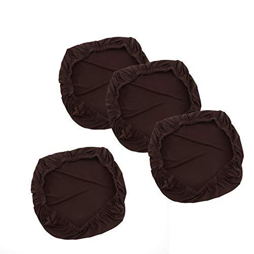 Fundas de asiento y protectores de cojín de café, suaves, elásticas, extraíbles, lavables a máq
