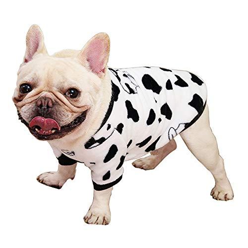 Haustier-Kleidung, Hunde-Winter-Pyjama, hübscher Hundemantel, warmes kaltes Wetter, französische Bulldogge, Pullover für Katzen, Welpen, kleine, mittelgroße Hunde (XXL-Weiß)