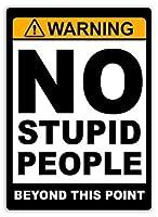 アルミメタルノベルティ危険サインインチ、このポイントを超えて愚かな人はいない、メタルウォールアートルームの装飾メタルサインパーソナライズされたサインヴィンテージアルミメタルサインティンプラーク