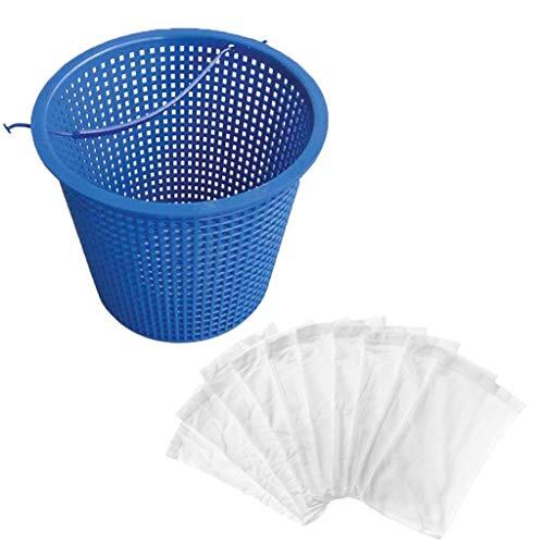 QHJ - Cesto di ricambio per skimmer per piscina, include 5/10/20 paia di calzini per skimmer E, per famiglia, bambini, adulti, interni ed esterni, C, as show