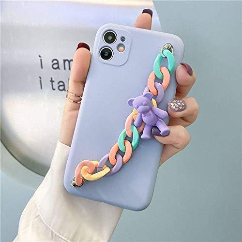 LIUYAWEI Chic Candy Bear Colgante Pulsera Funda de teléfono de TPU Suave para Xiaomi Note 9S 9 Pro MAX Note8 8T 7 6 5 4 9A 9C 8A 7A 6A 5A 4A 4X, 1, Redmi 6