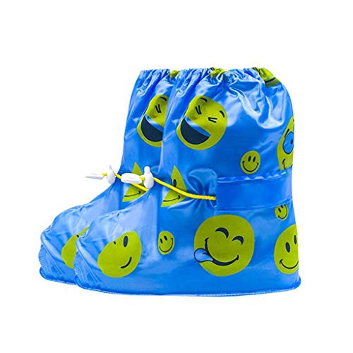 Becoler Store Children's Waterproof Rain Boots Cover,Anti-Slip Rain Shoe Mid Calf Boot Cover for Kids Boys Girls